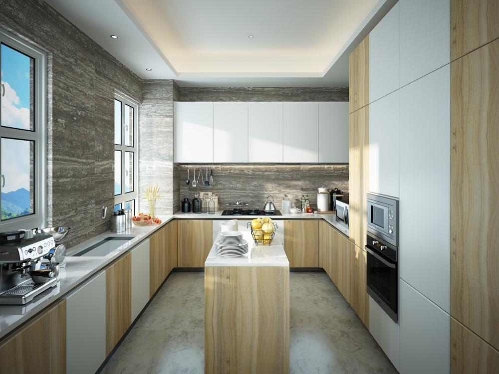 北欧式风格整体厨房橱柜效果图